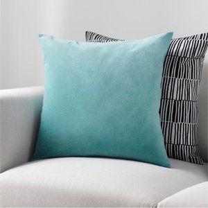 Ikea Sanela Velvet Teal Cushion Cover